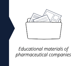 Educational materials of pharmaceutical companies